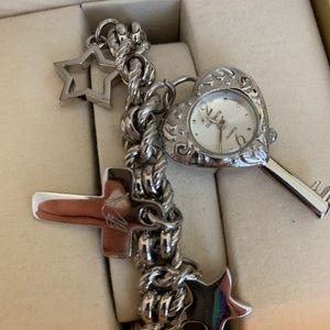 Jewelry - New Dufonte Swiss Silver Womens Watch